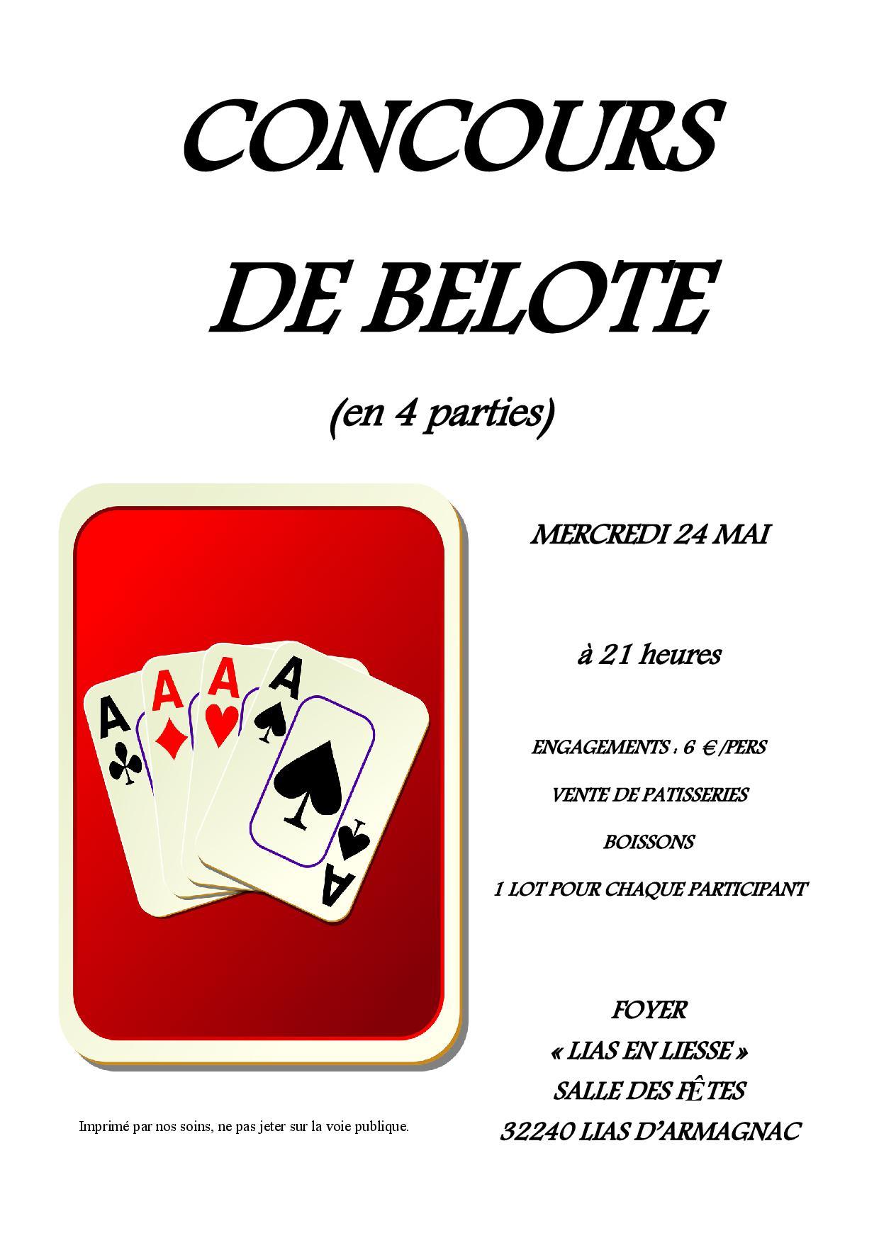 Concours de belote 2017